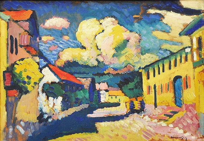 vassily kandinsky 1908 murnau dorfstrasse painting nazmiyal blog