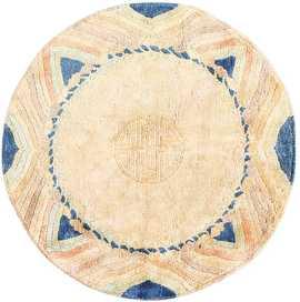 Vintage Chinese Art Deco Circular Rug 48051 Detail/Large View