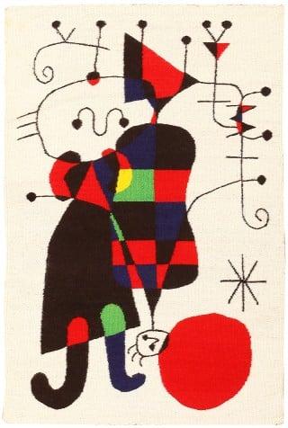 Vintage Scandinavian Joan Mir 243 Tapestry 48103 Nazmiyal Rugs