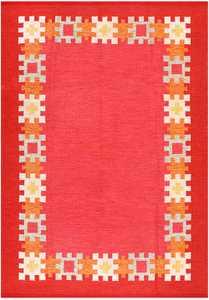 Vintage Swedish Kilim by Ingegerd Silow 48189 Nazmiyal