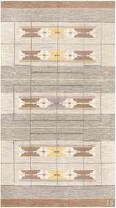 Vintage Swedish Kilim by Ingegerd Silow 48191 Nazmiyal