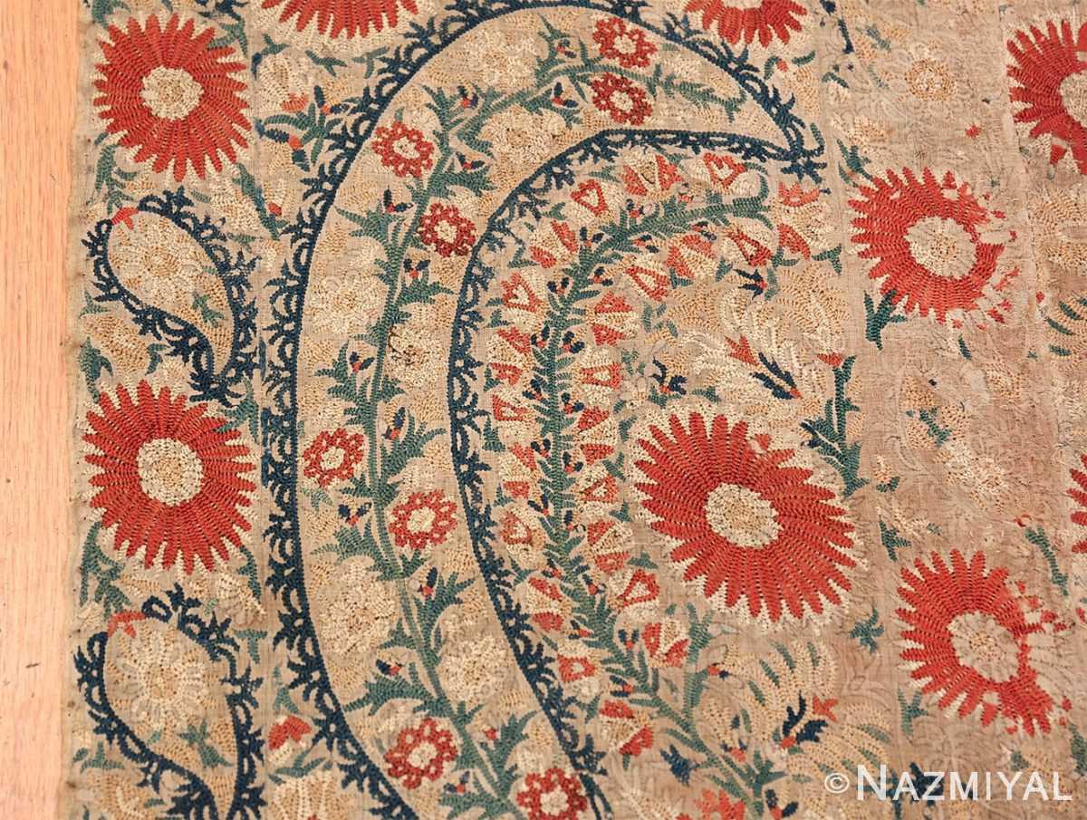 Antique 17th Century Ottoman Textile 41498 Border Design Nazmiyal