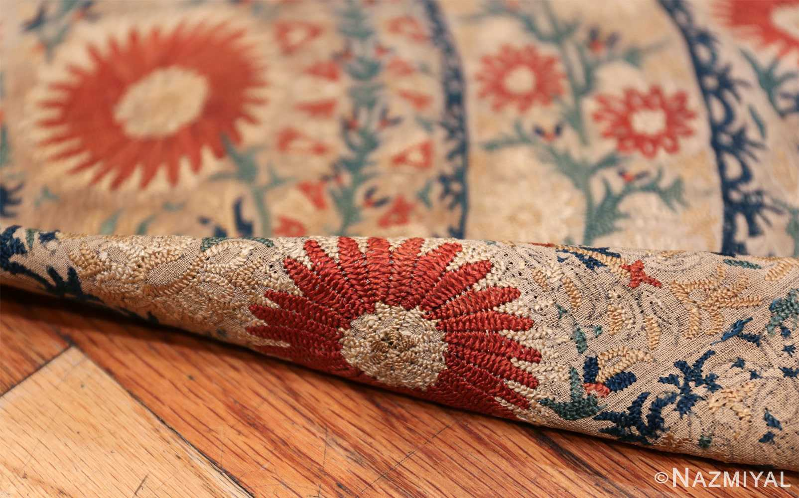 Antique 17th Century Ottoman Textile 41498 Floral Pile Nazmiyal