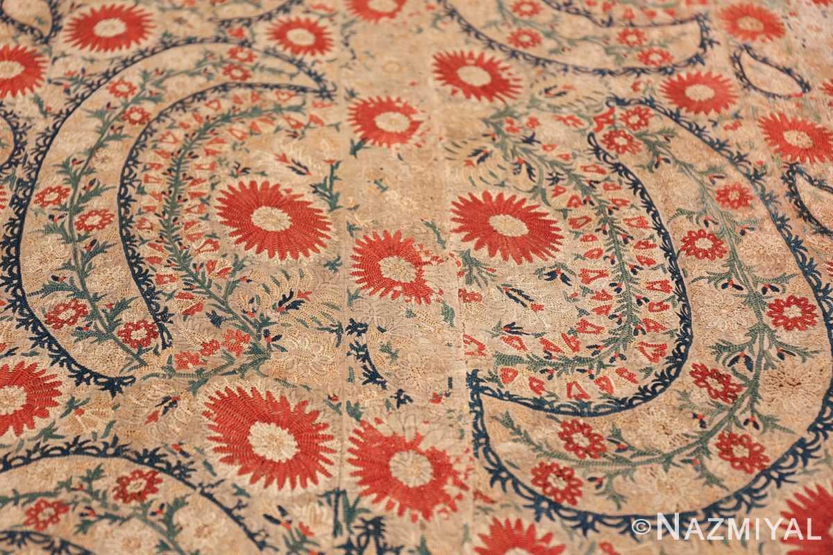 Antique 17th Century Ottoman Textile 41498 Floral Wreath Nazmiyal