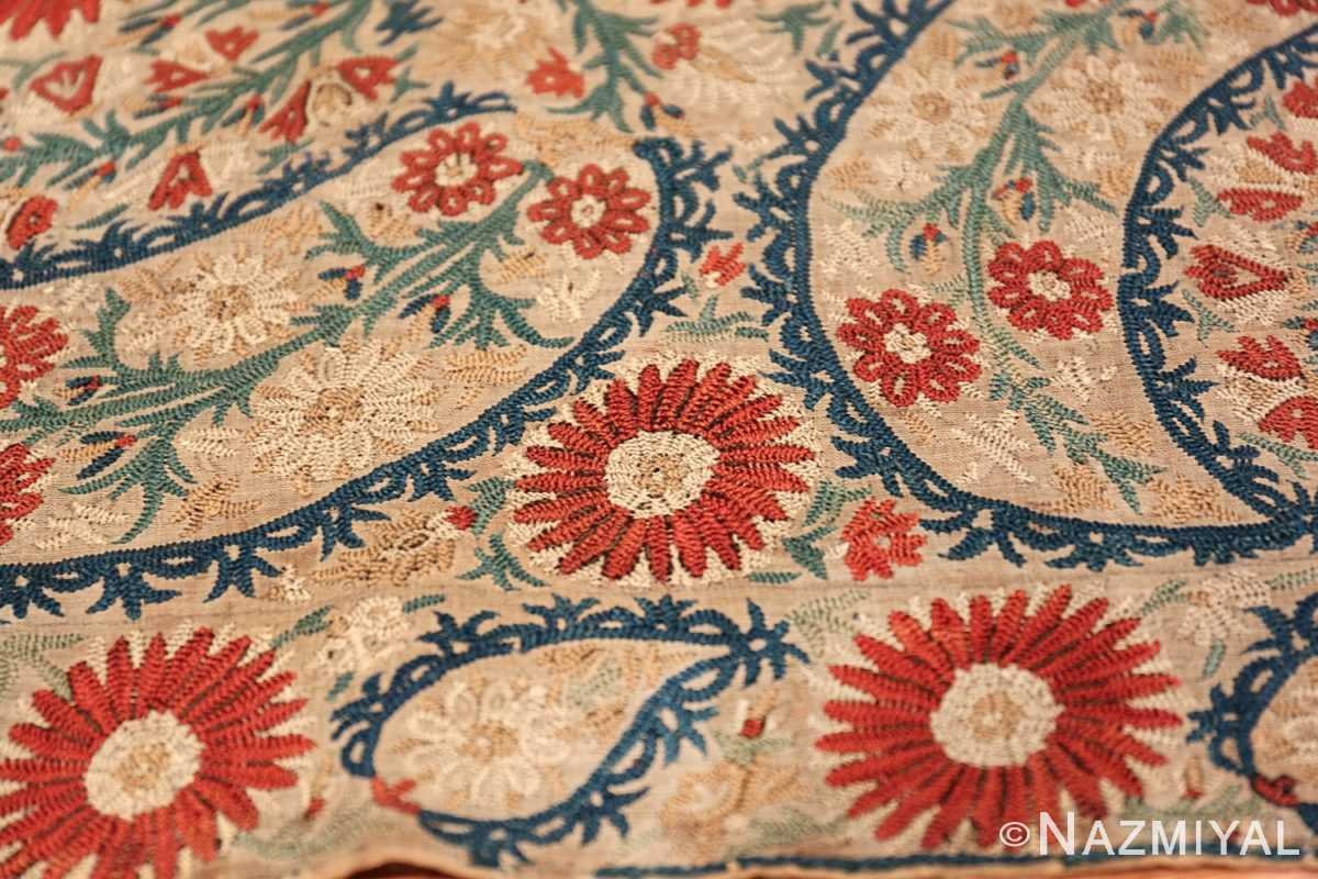 Antique 17th Century Ottoman Textile 41498 Three Big Roses Nazmiyal