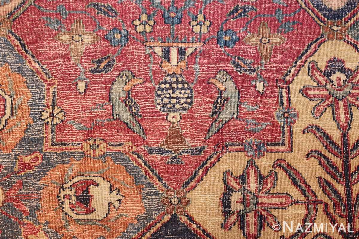antique 17th century persian khorassan carpet from william a clark 47074 blue bird Nazmiyal
