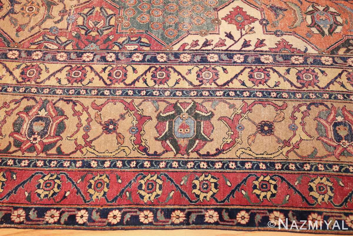 antique 17th century persian khorassan carpet from william a clark 47074 border Nazmiyal