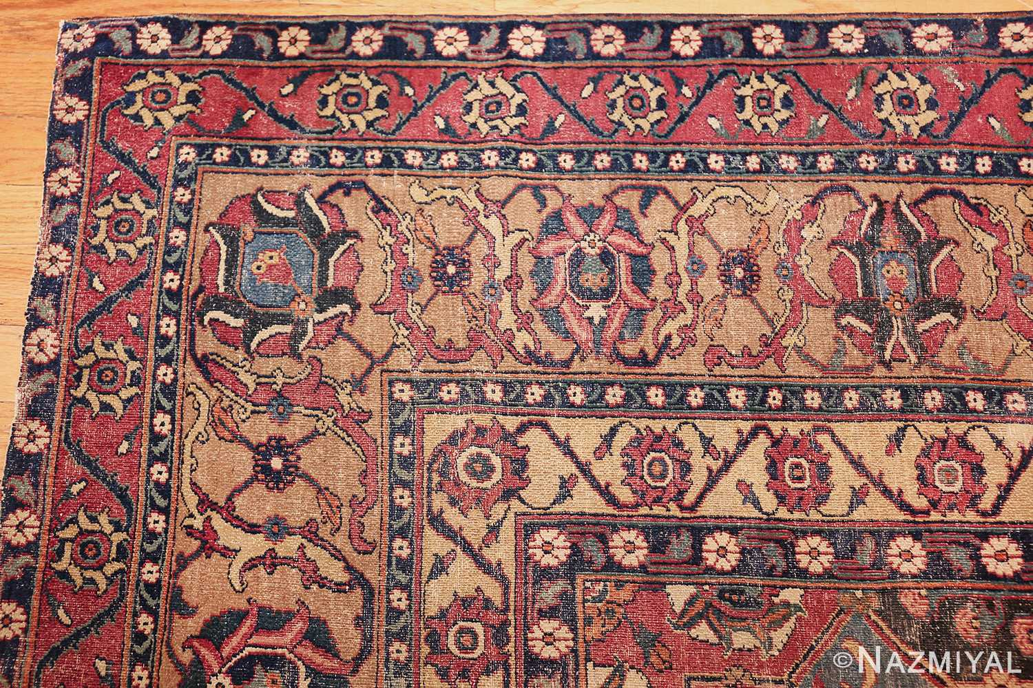 antique 17th century persian khorassan carpet from william a clark 47074 corner Nazmiyal