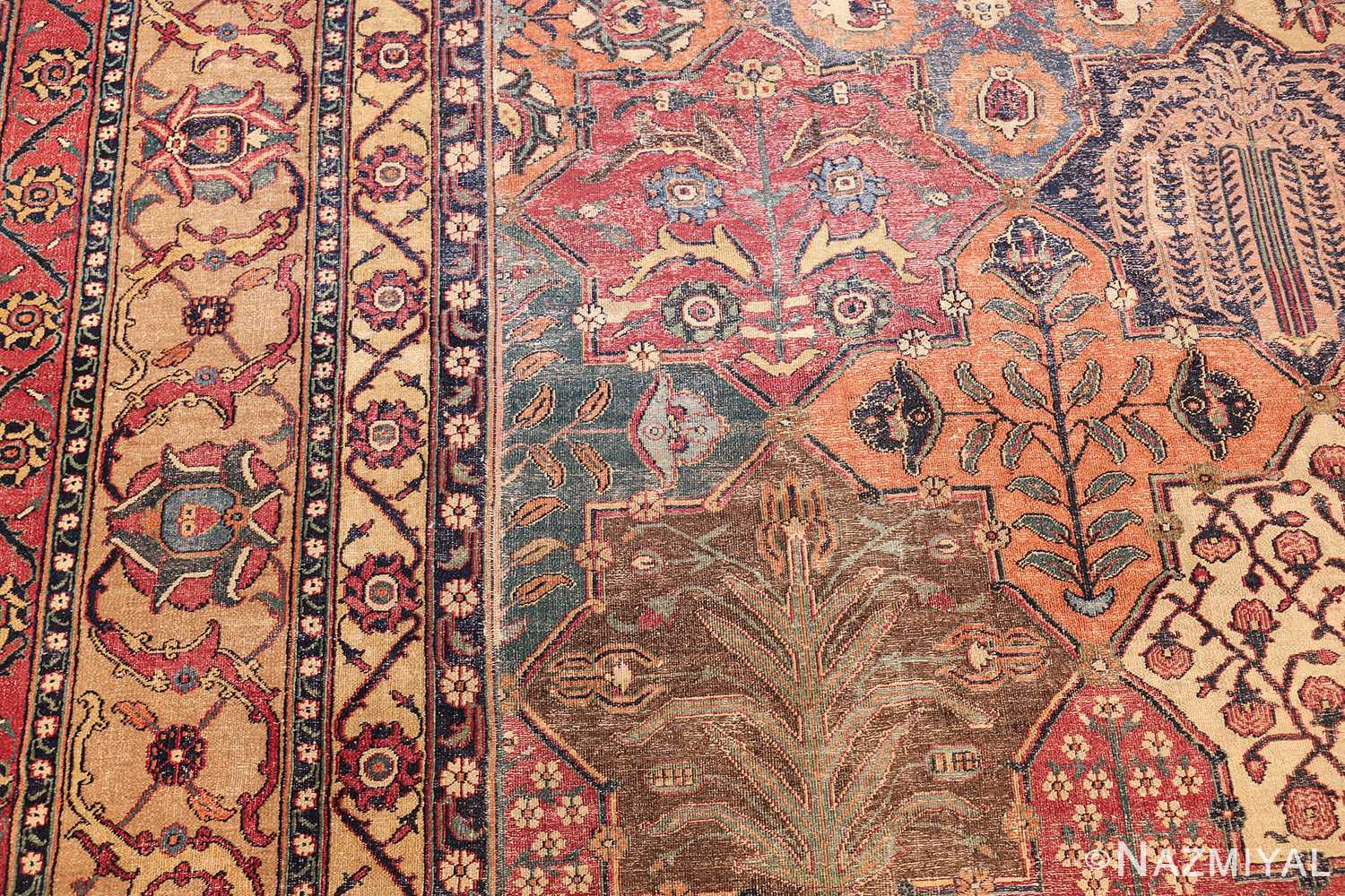 antique 17th century persian khorassan carpet from william a clark 47074 design Nazmiyal