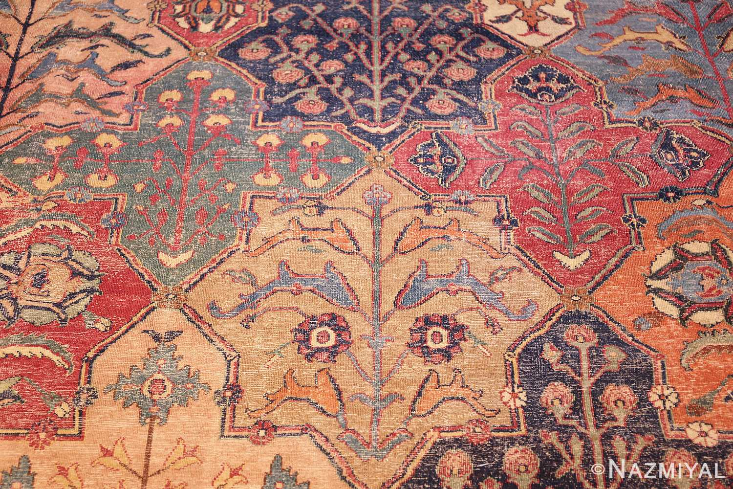 antique 17th century persian khorassan carpet from william a clark 47074 dolphines Nazmiyal