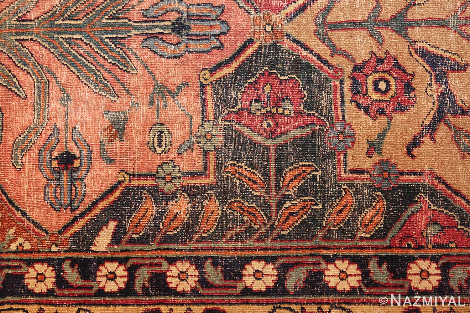 antique 17th century persian khorassan carpet from william a clark 47074 pile Nazmiyal