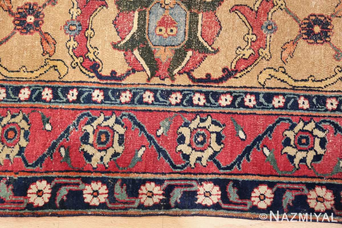 antique 17th century persian khorassan carpet from william a clark 47074 round Nazmiyal