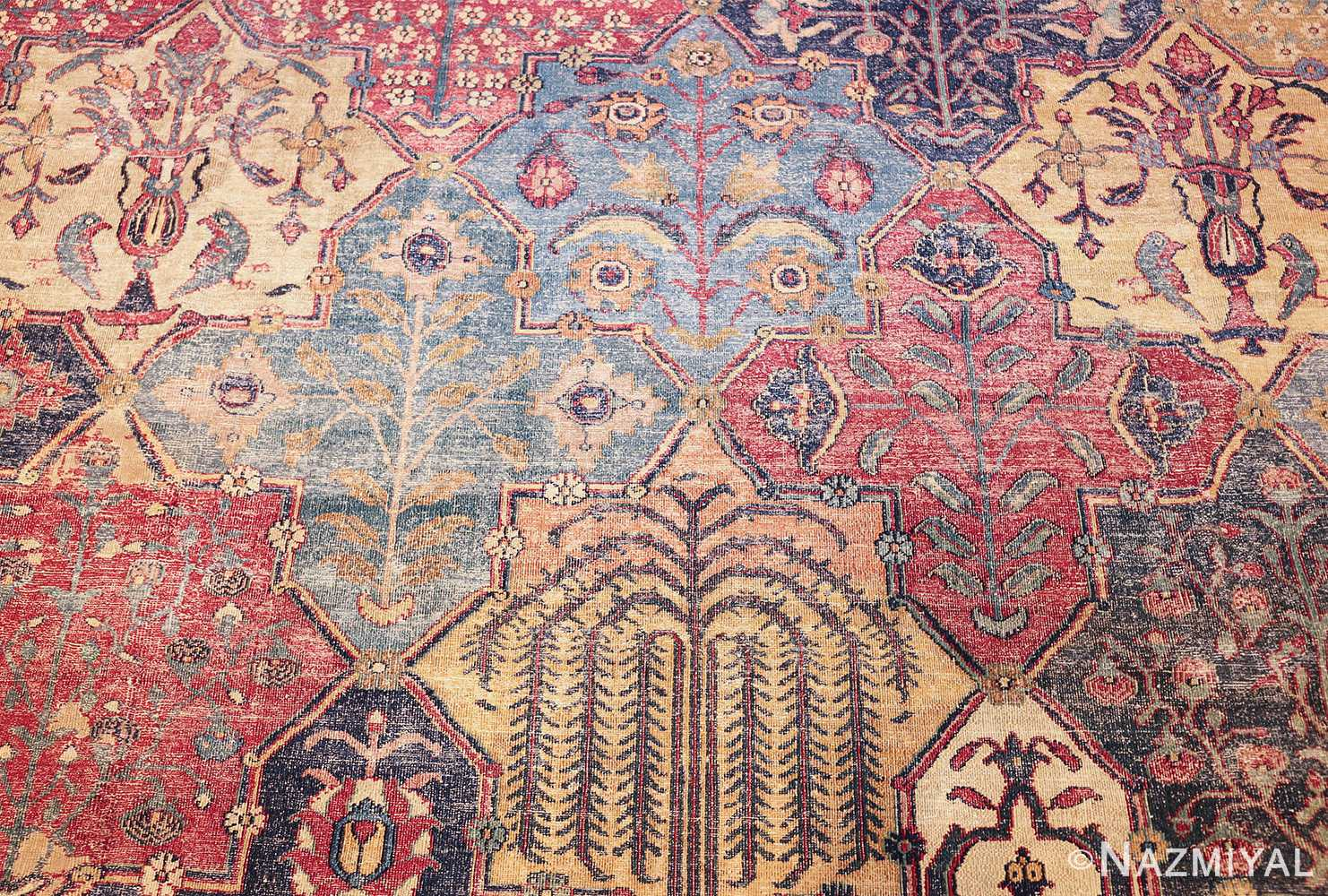 antique 17th century persian khorassan carpet from william a clark 47074 blooms Nazmiyal