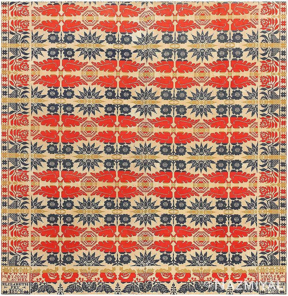 Antique American Ingrain Designed By John Kachel 2629 Nazmiyal