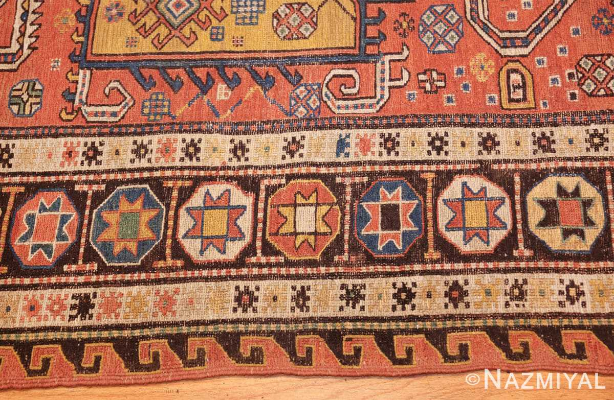 antique caucasian soumak rug 47147 border Nazmiyal