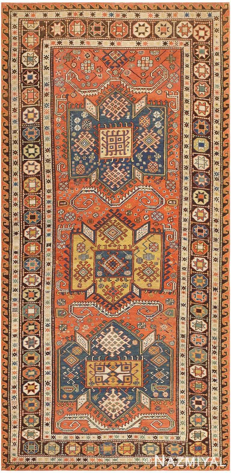 Antique Caucasian Soumak Rug 47147 Nazmiyal