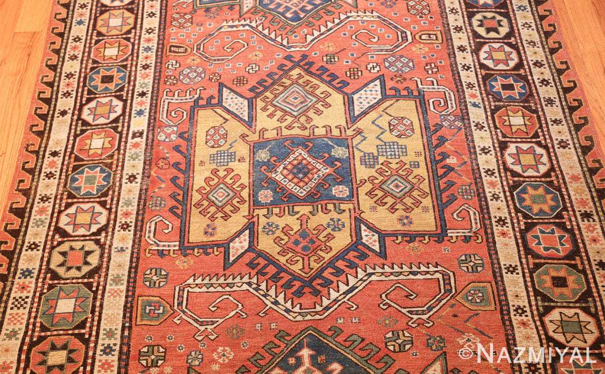 antique caucasian soumak rug 47147 field Nazmiyal