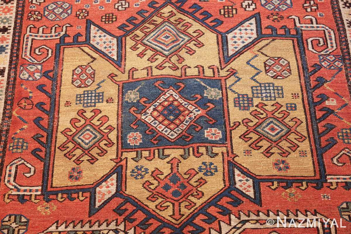 antique caucasian soumak rug 47147 yellow