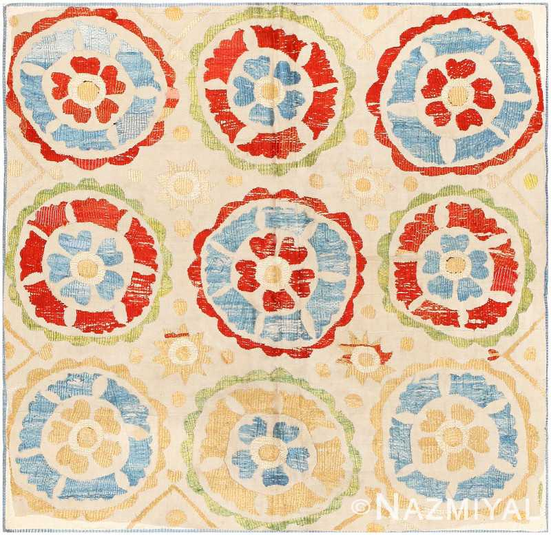 Antique Ottoman Embroidery Rug 8053 Nazmiyal