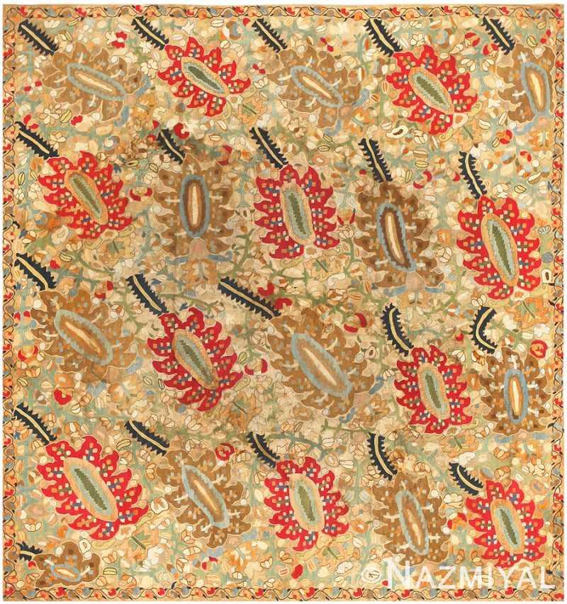 Antique Ottoman Embroidery Turkish Rug 41488 Nazmiyal