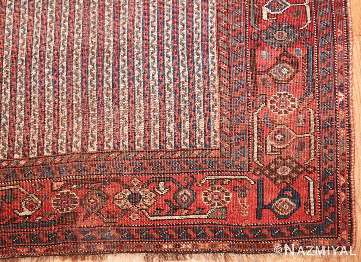 antique persian afshar carpet 47539 corner Nazmiyal