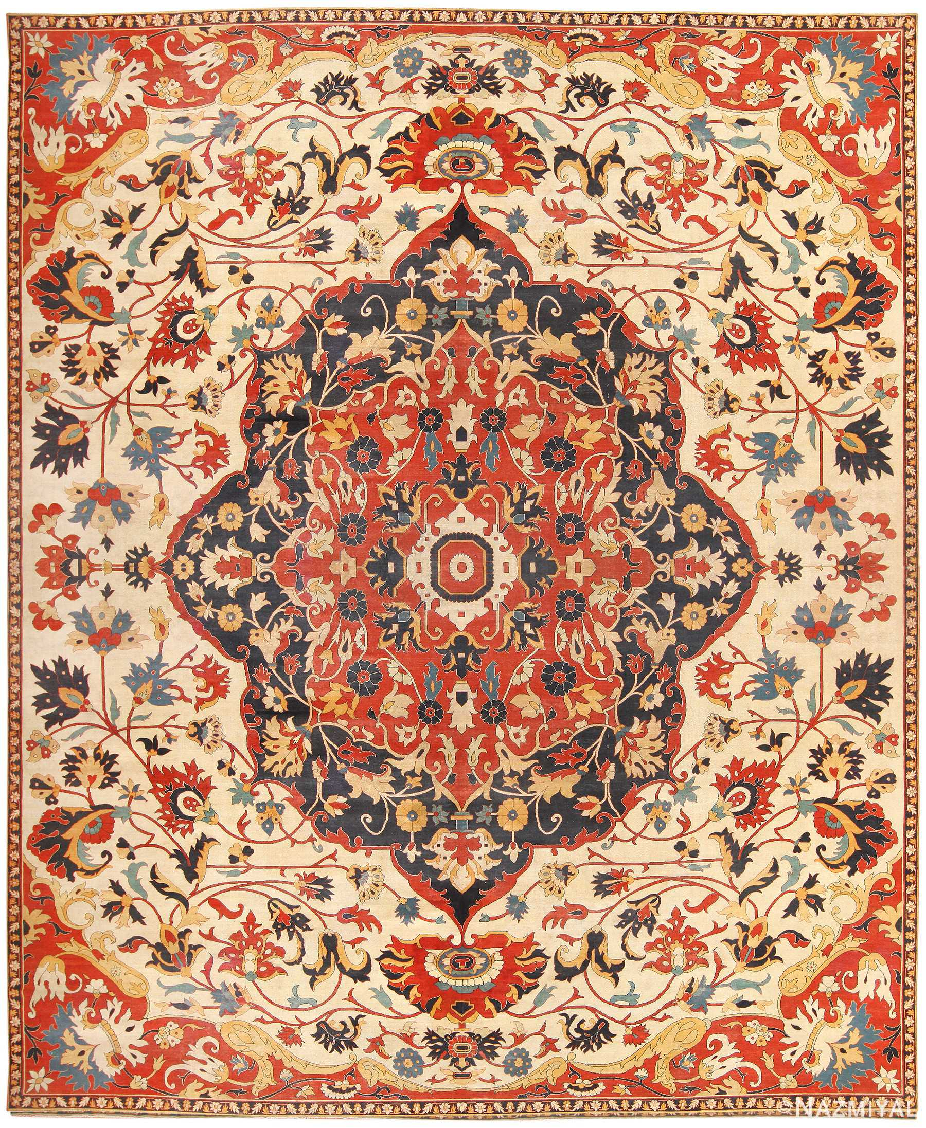 Antique Persian Sarouk Farahan Carpet 46926 Nazmiyal