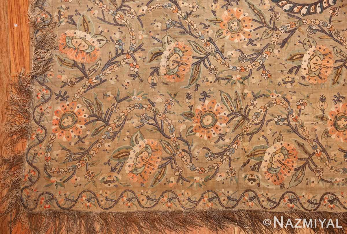 antique silk persian textile 8386 corner Nazmiyal