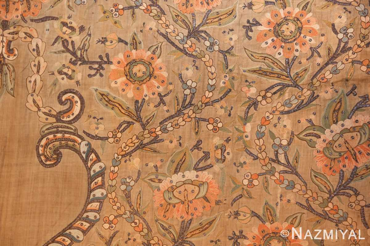 antique silk persian textile 8386 flowers Nazmiyal