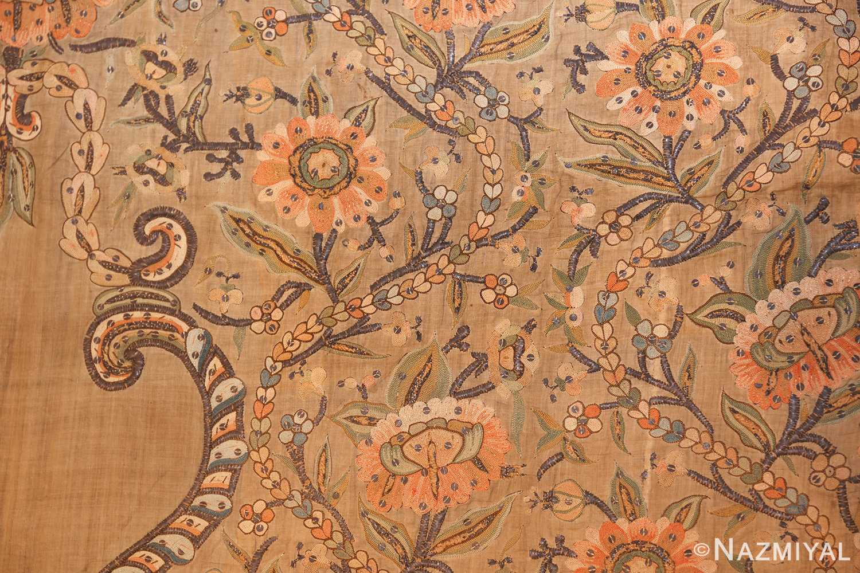 antique silk persian textile 8386 flowers Nazmiyal