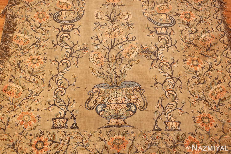 antique silk persian textile 8386 scrolls Nazmiyal