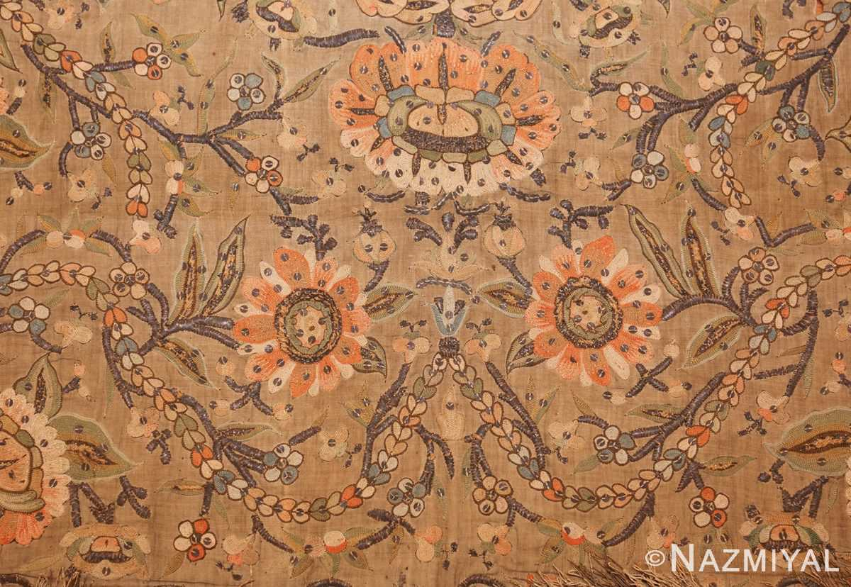 antique silk persian textile 8386 top Nazmiyal