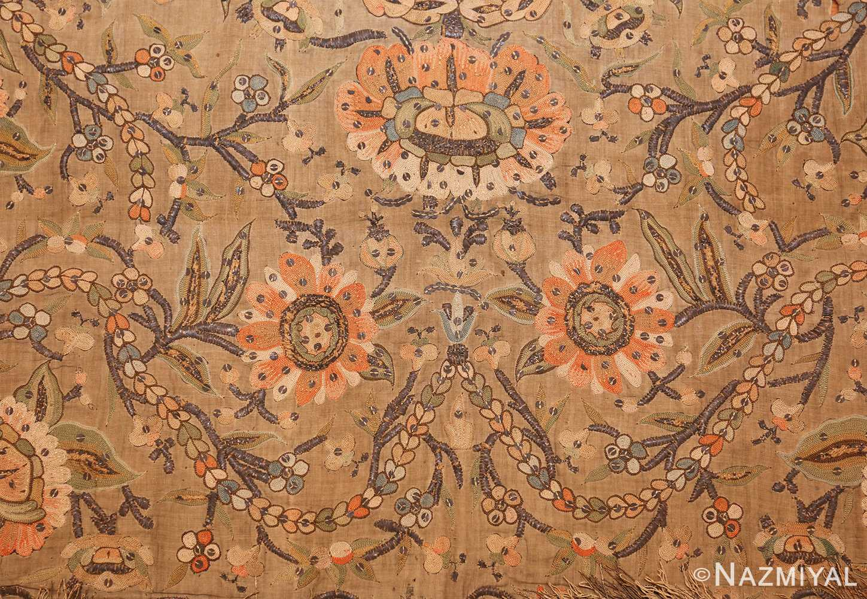 antique silk persian textile 8386 top Nazmiyal