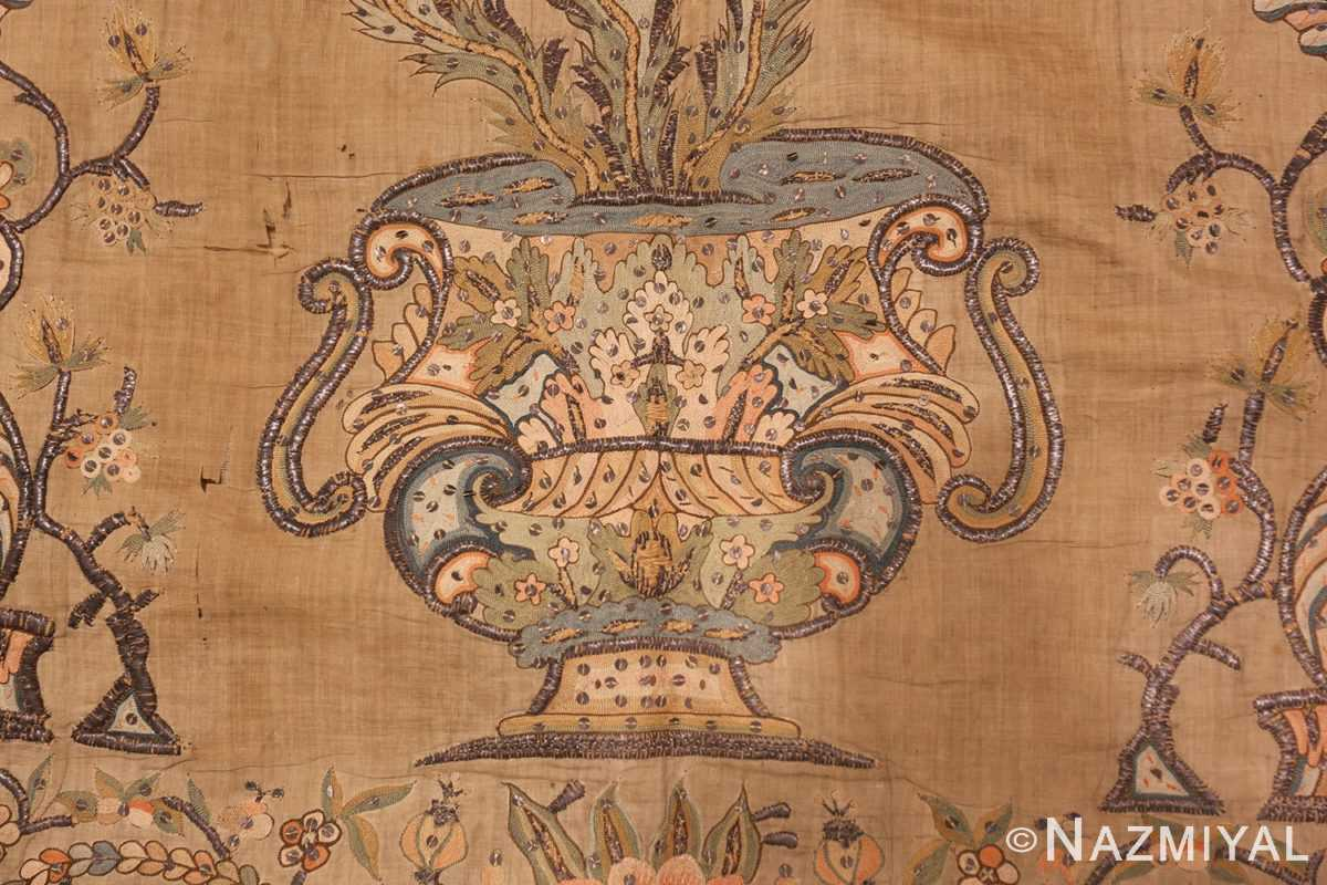 antique silk persian textile 8386 vase Nazmiyal