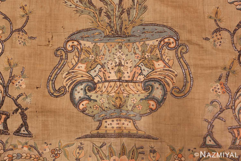 antique silk persian textile 8386 vase Nazmiyal