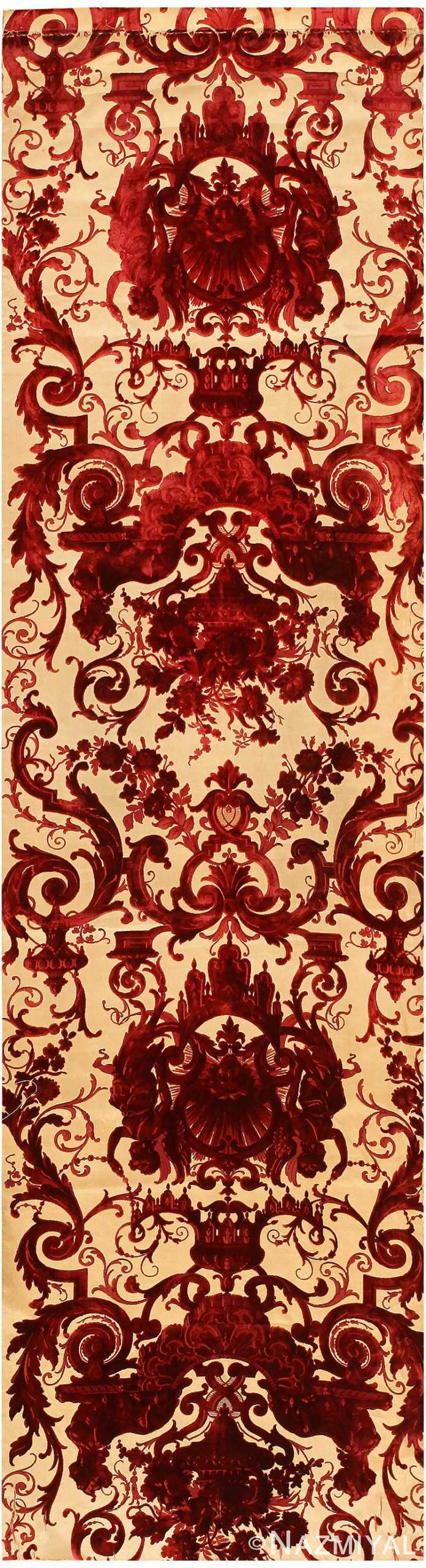 Antique Silk Velvet Textile from India 41491 Nazmiyal
