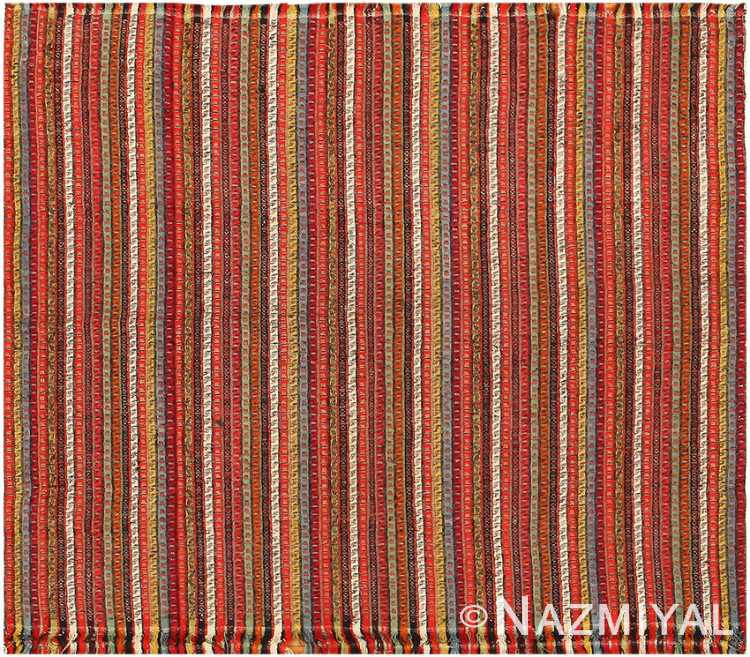 Antique Striped Turkish Jajim Rug 40909 Nazmiyal