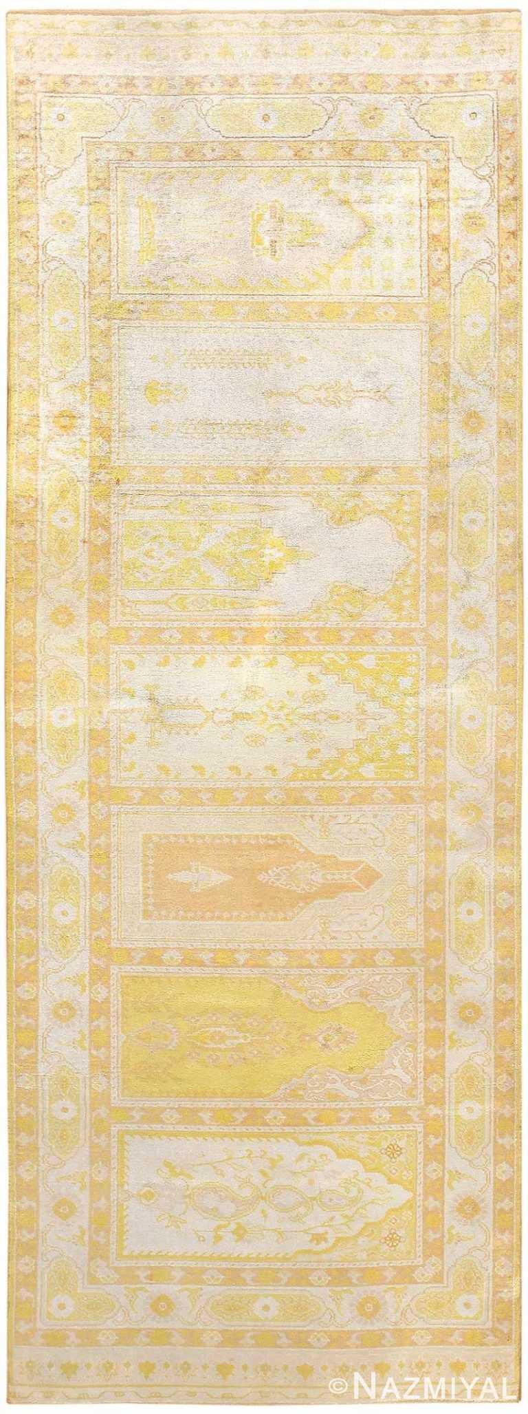 Antique Turkish Herekeh Silk Rug 48176 Nazmiyal