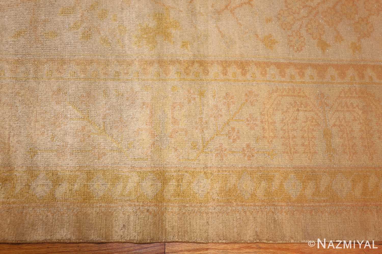 antique turkish oushak rug 48000 border Nazmiyal