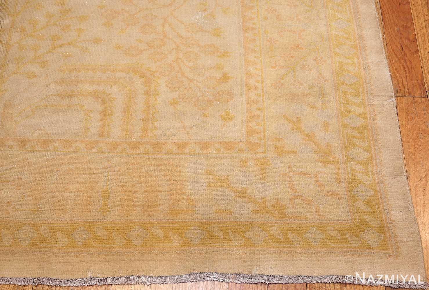 antique turkish oushak rug 48000 corner Nazmiyal