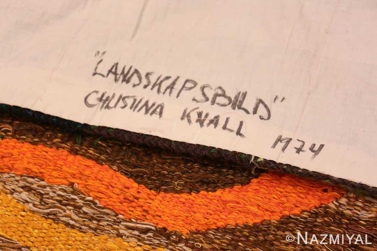 Note Scandinavian tapestry rug 48190 designed by Christina Knall from the Nazmiyal Antique rugs collection,