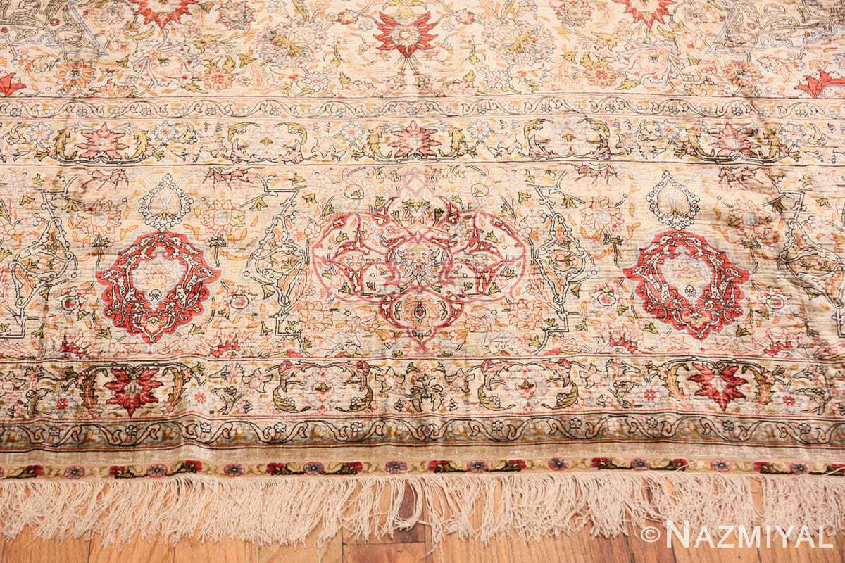 Border Vintage Silk Turkish Hereke rug 48038 by Nazmiyal