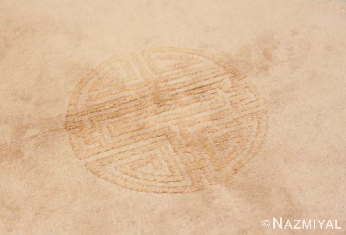 Close-up Vintage Chinese Art Deco Round rug 48051 by Nazmiyal