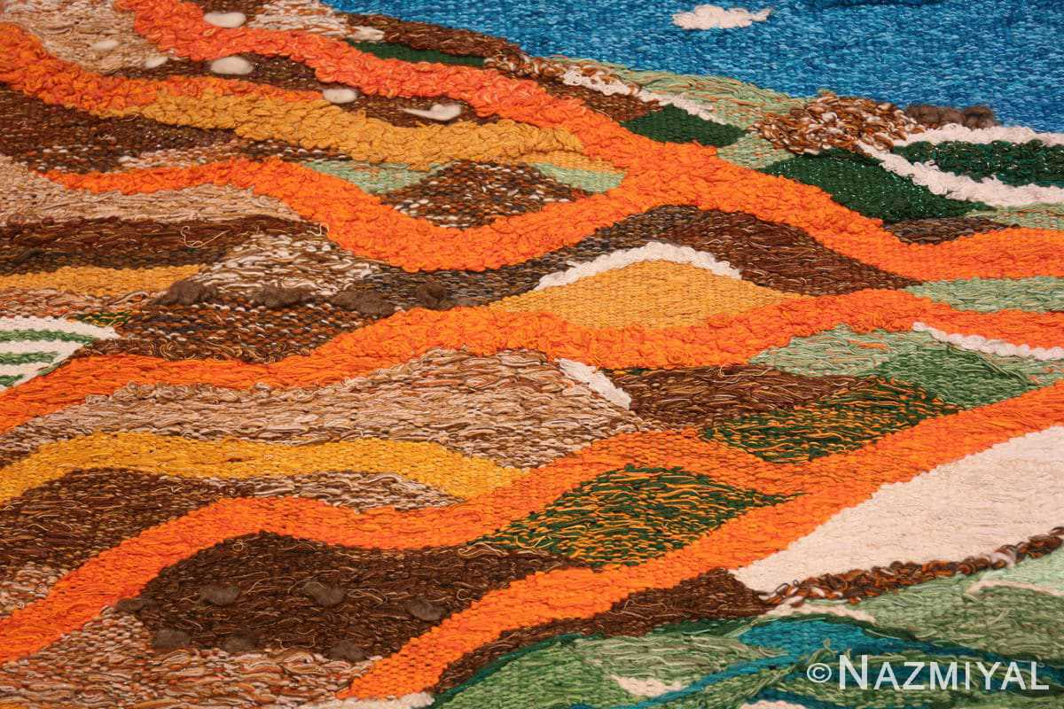 Field Scandinavian tapestry rug 48190 designed by Christina Knall from the Nazmiyal Antique rugs collection,