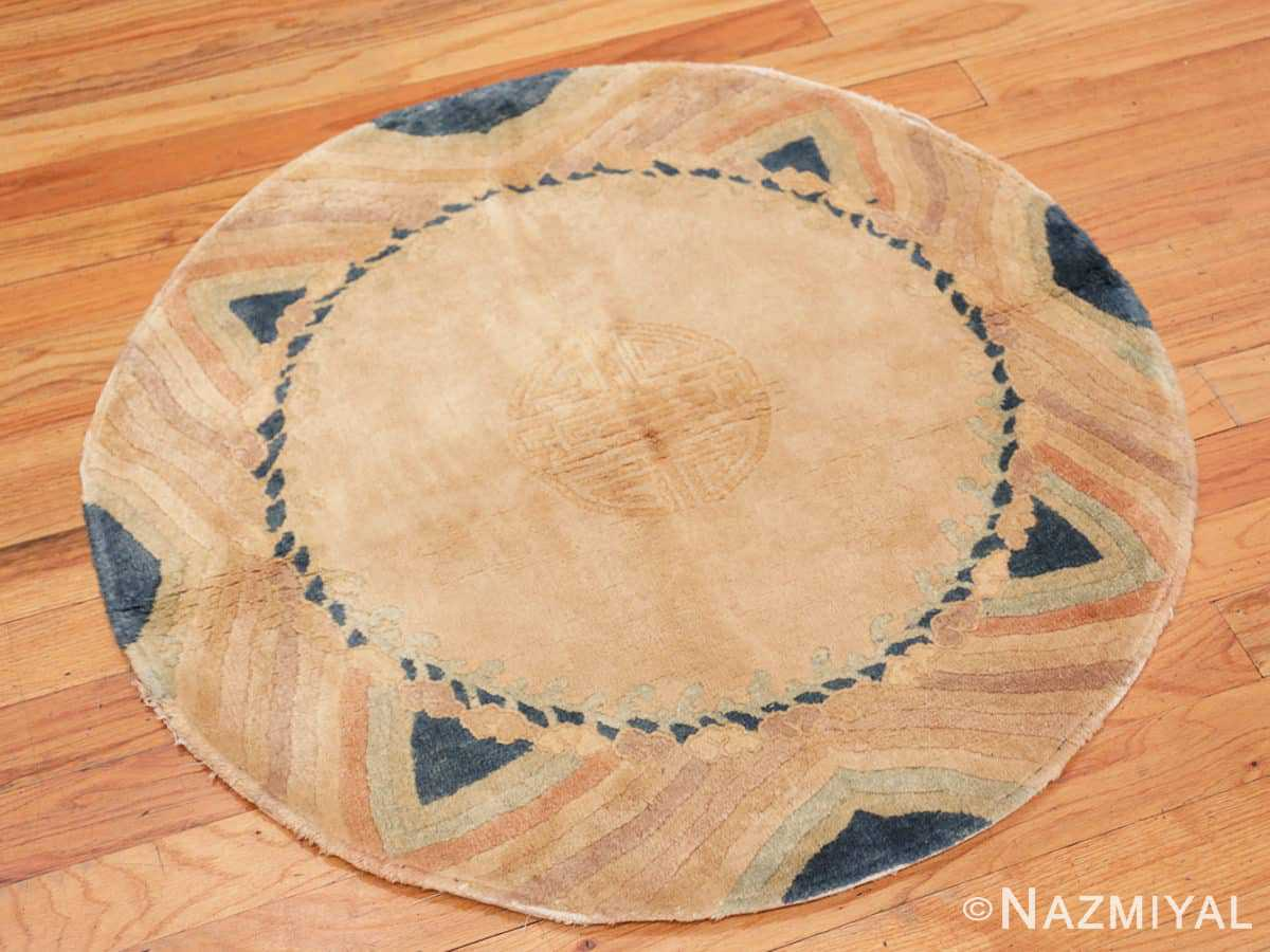 Full Vintage Chinese Art Deco Round rug 48051 by Nazmiyal