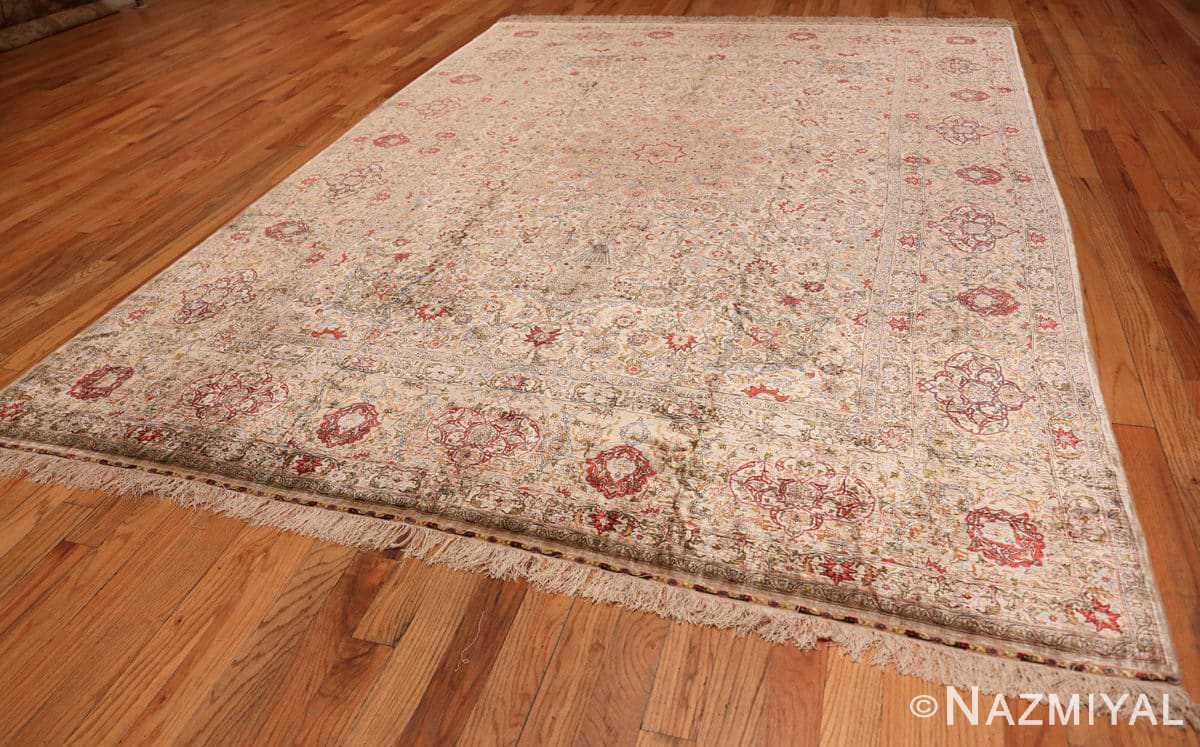 Full Vintage Silk Turkish Hereke rug 48038 by Nazmiyal