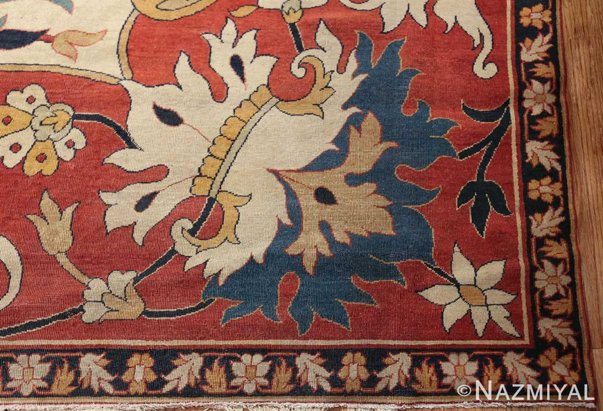 large oversized antique persian sarouk farahan carpet 46926 corner Nazmiyal