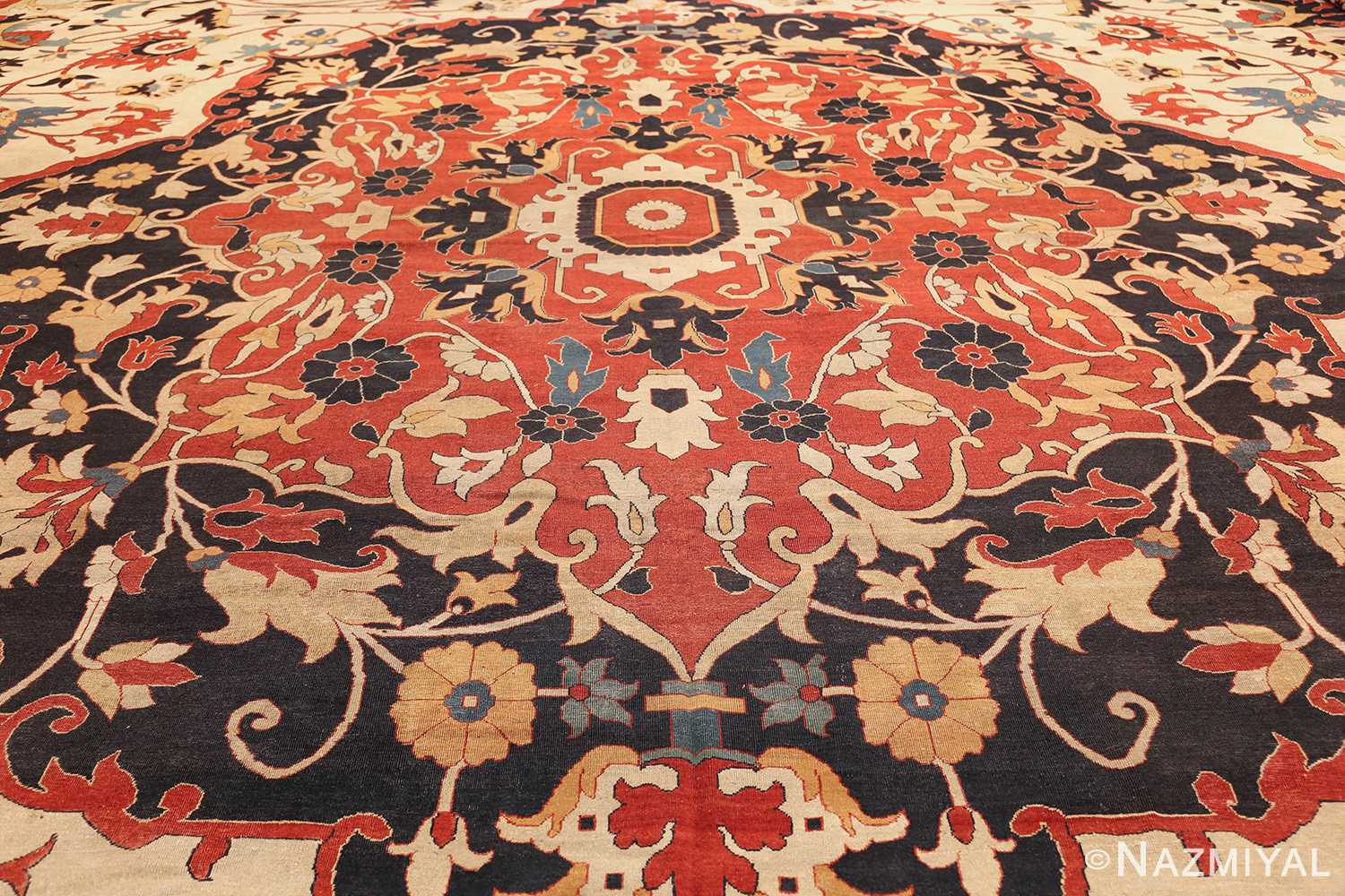 large oversized antique persian sarouk farahan carpet 46926 field Nazmiyal