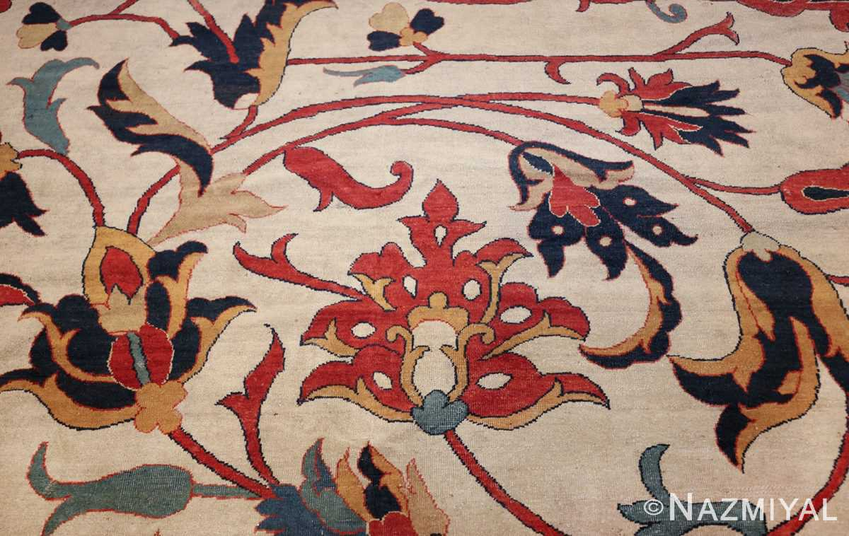 large oversized antique persian sarouk farahan carpet 46926 ivory Nazmiyal