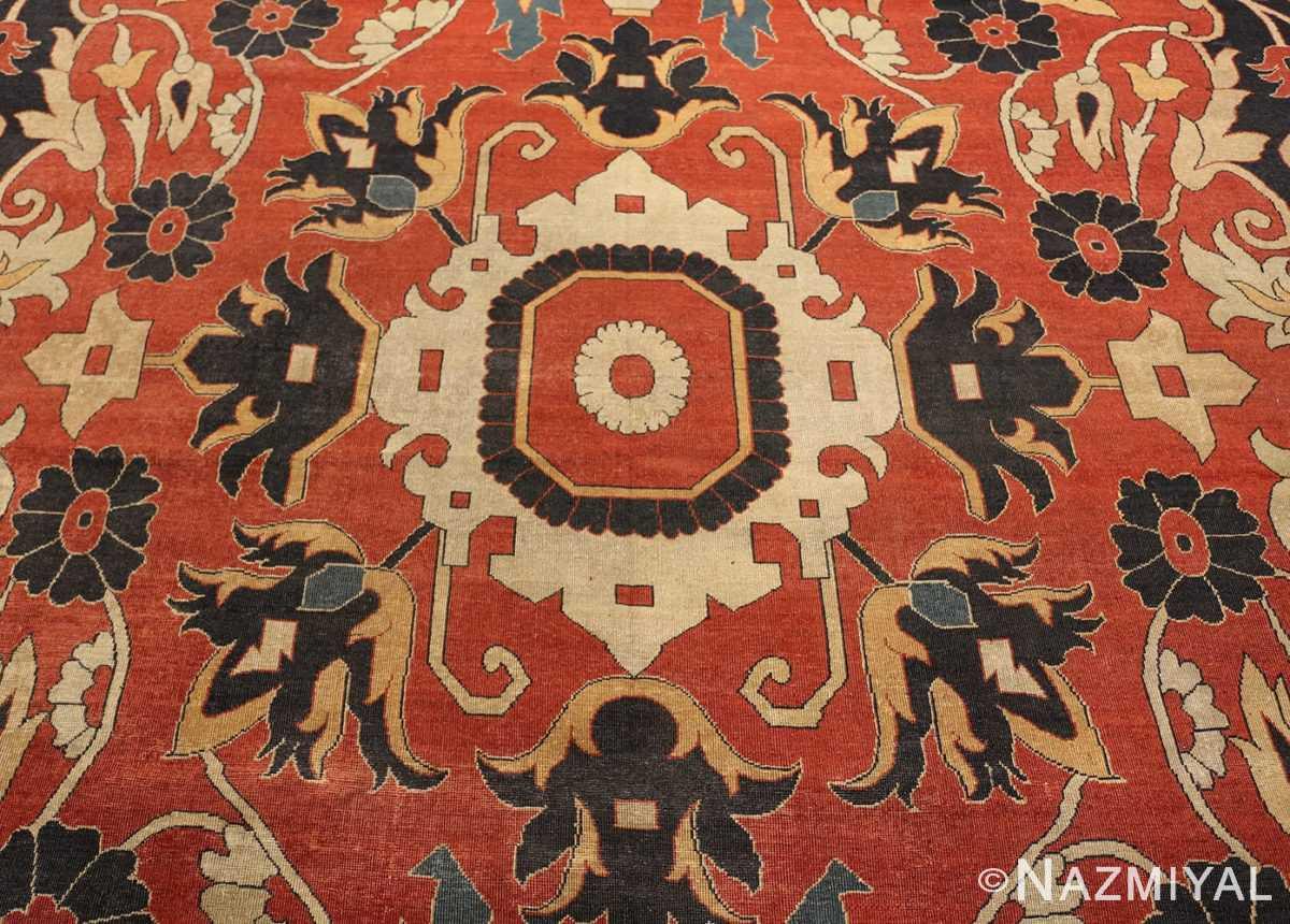 large oversized antique persian sarouk farahan carpet 46926 medallion Nazmiyal