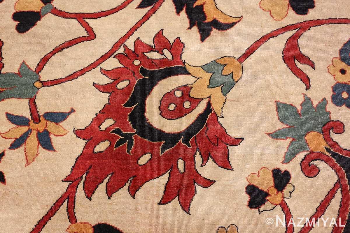 large oversized antique persian sarouk farahan carpet 46926 red Nazmiyal